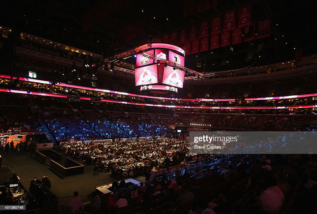 A general view of the draft floor as the Colorado Avalanche make their pick during the 2014 NHL Entry Draft at Wells Fargo Center on June 28, 2014 in Philadelphia, Pennsylvania.