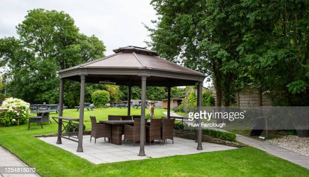 General view of the Dragon Inn Beer garden which has been prepared for reopening on the 13th of July, the premises have been closed since the start...