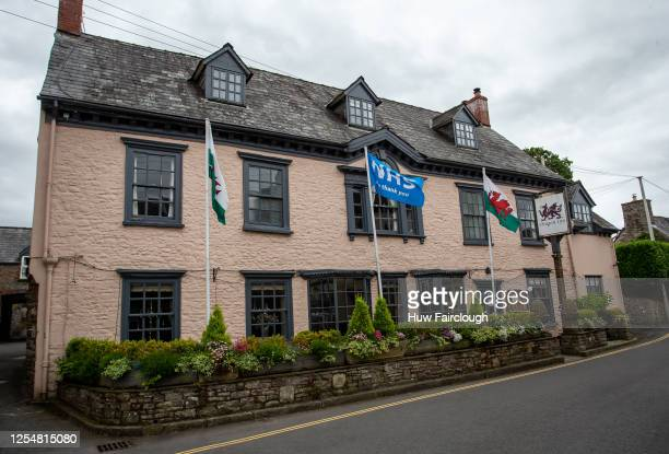 General view of the Dragon Inn Public house which has been closed since the start of the pandemic on July 7, 2020 in Crickhowell, The premises can...
