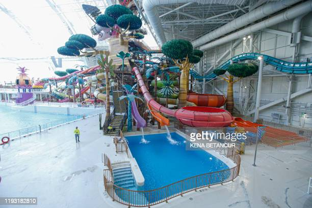 General view of the Dream Works Water park at the American Dream mall located in East Rutherford New Jersey on December 19 2019