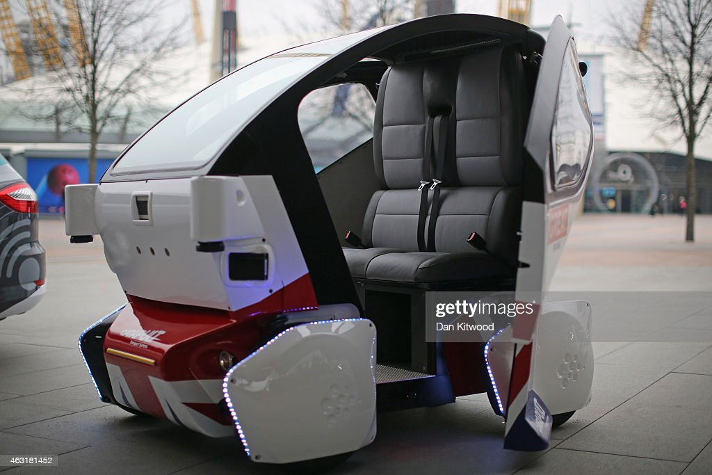 The UK's First Driverless Pods Are Unveiled At The O2 Arena : News Photo