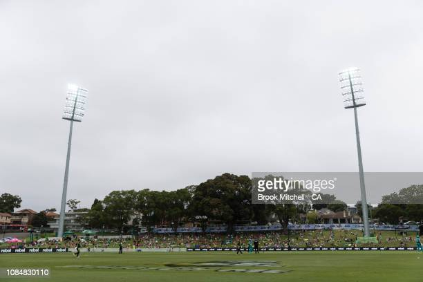 A general view of the Drummoyne Oval during the Women's Big Bash League Semi Finals on January 19 2019 in Sydney Australia
