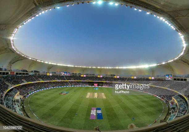 General view of the Dubai International cricket stadium,Dubai, United Arab Emirates is seen where the final cricket match of Asia Cup 2018 between...