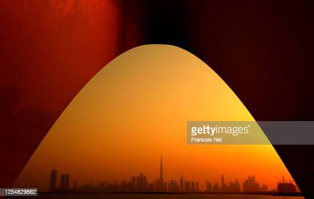 General view of the Dubai Skyline on July 07, 2020 in Dubai, United Arab Emirates. Dubai has reopened to international tourists after airports in...
