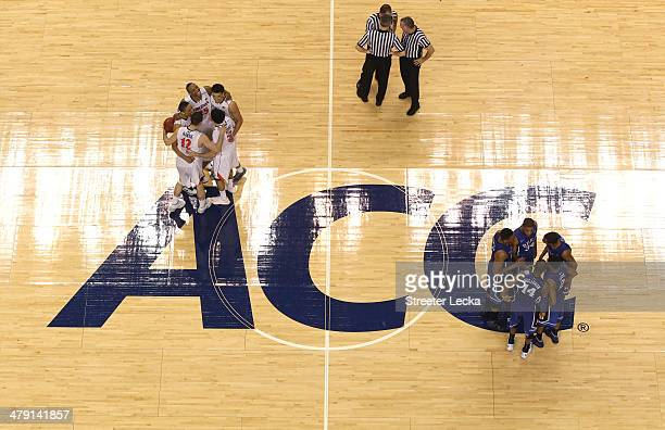 A general view of the Duke Blue Devils versus Virginia Cavaliers during the championship game of the 2014 Men's ACC Basketball Tournament at...