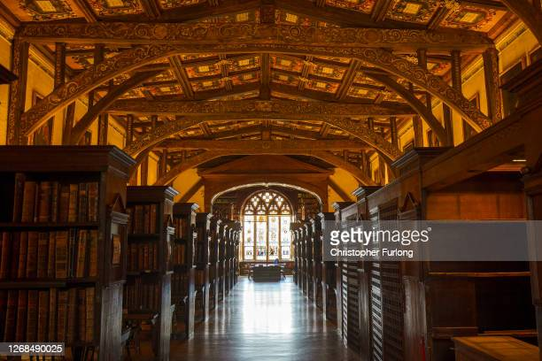 General view of the Duke Humphrey's Library at the Bodleian Libraries on August 25, 2020 in Oxford, England. The world famous libraries closed in...