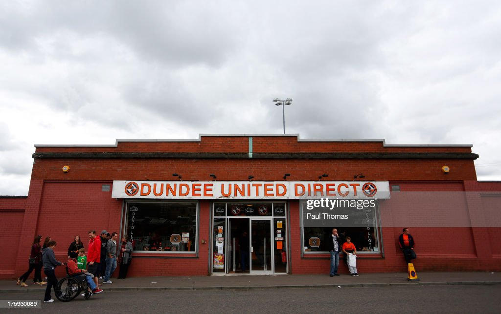 A general view of the Dundee United club shop before the Scottish Premier League match between Dundee United and Inverness Caledonian Thistle at Tannadice Park on August 10, 2013 in Dundee, Scotland