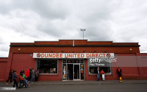 A general view of the Dundee United club shop before the Scottish Premier League match between Dundee United and Inverness Caledonian Thistle at...