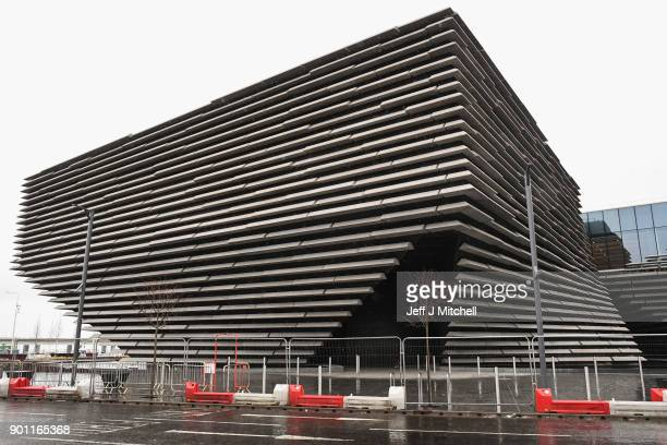 A general view of the Dundee VA Museum of Design on January 4 2018 in Dundee Scotland The new £80millionpound museum designed by Japanese architect...