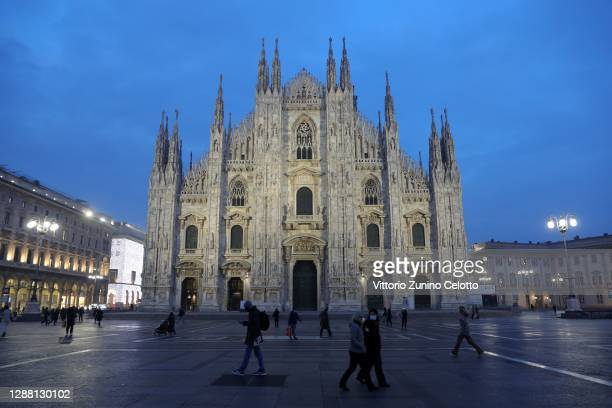 General view of the Duomo on November 27, 2020 in Milan, Italy.