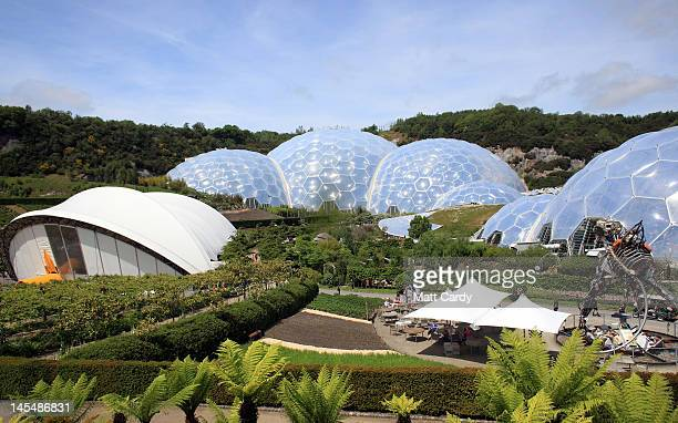 A general view of the Eden Project as 'The Sense of Memory Garden' opens on May 31 2012 in St Austell Cornwall England The garden featuring water...
