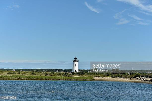 A general view of the Edgartown Lighthouse on August 22 2014 in Martha's Vineyard MA