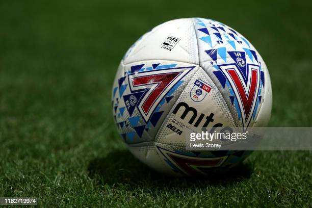 General view of the EFL matchball prior to the Sky Bet Championship match between Preston North End and Leeds United at Deepdale on October 22, 2019...
