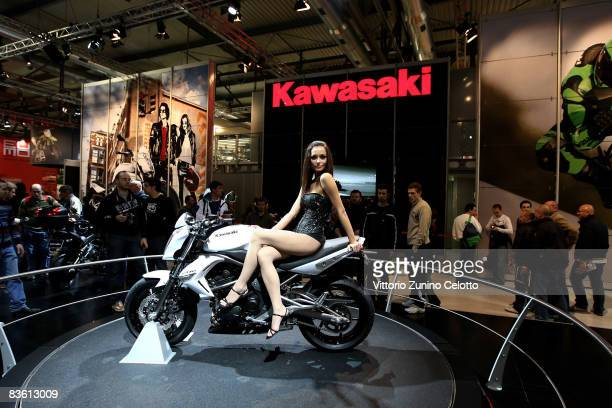 General view of the Eicma International Cycle and Motorcycle Exhibition held at Fiera Milano Rho on November 8 2008 in Milan Italy