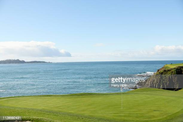 A general view of the eighth green during the third round of the ATT Pebble Beach ProAm at Pebble Beach Golf Links on February 09 2019 in Pebble...