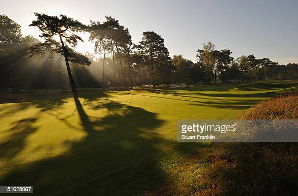 A general view of the eighth hole during the final round of the KLM Open at Hilversumsche Golf Club on September 9 2012 in Hilversum Netherlands