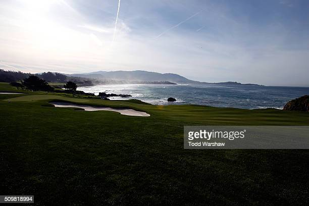 A general view of the eighth hole during the second round of the ATT Pebble Beach National ProAm at the Pebble Beach Golf Links on February 12 2016...