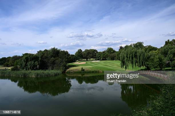 A general view of the eighth hole on the Bushwillow course prior to the start of the South Africa Open at Randpark Golf Club on December 5 2018 in...