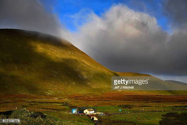 A general view of the electricity supply hut on Island of Foula on September 29 2016 in Foula Scotland Foula is the remotest inhabited island in...