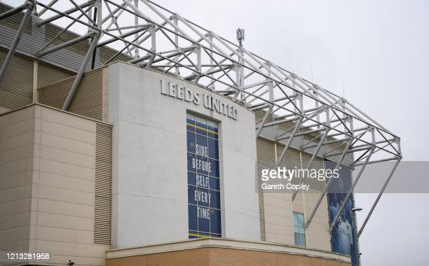 General view of the Elland Road home of Leeds United on March 18 2020 in Leeds England
