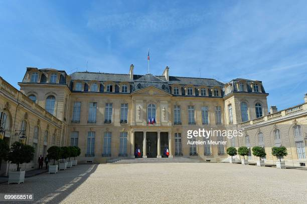 General view of the Elysee Palace after the weekly cabinet meeting with French President Emmanuel Macron on June 22, 2017 in Paris, France.