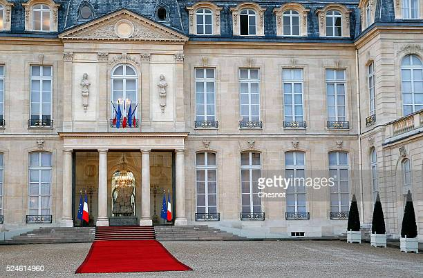 A general view of the Elysee Presidential Palace is seen on April 26 2016 in Paris France Australian GovernorGeneral Sir Peter Cosgrove is currently...