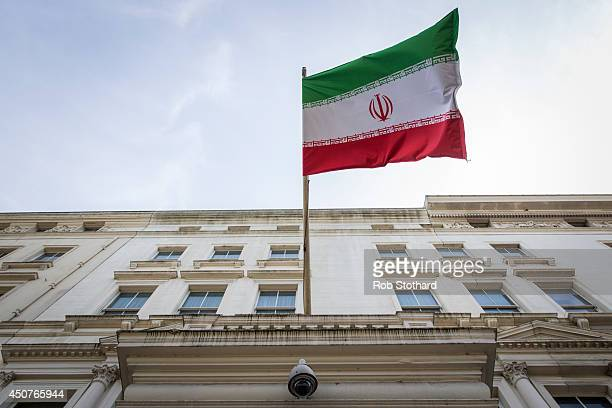 General view of the Embassy of the Islamic Republic of Iran at 16 Princes Gate on June 17, 2014 in London, England. British Foreign Secretary William...