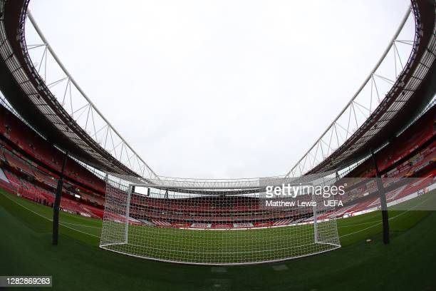 A general view of the Emirates stadium ahead of the UEFA Europa League Group B stage match between Arsenal FC and Dundalk FC at Emirates Stadium on...