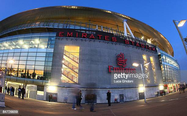 A general view of the Emirates Stadium before the international friendly match between Italy and Brazil on February 10 2009 in London England