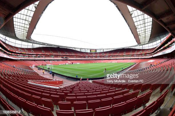 A general view of the Emirates Stadium before the Premier League match between Arsenal v Everton at Emirates Stadium on September 23 2018 in London...