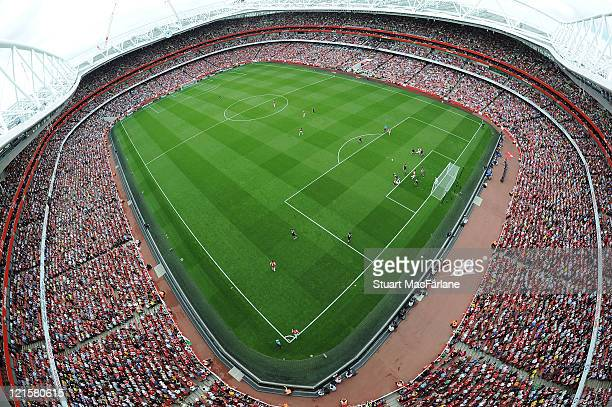A general view of the Emirates Stadium on August 20 2011 in London England
