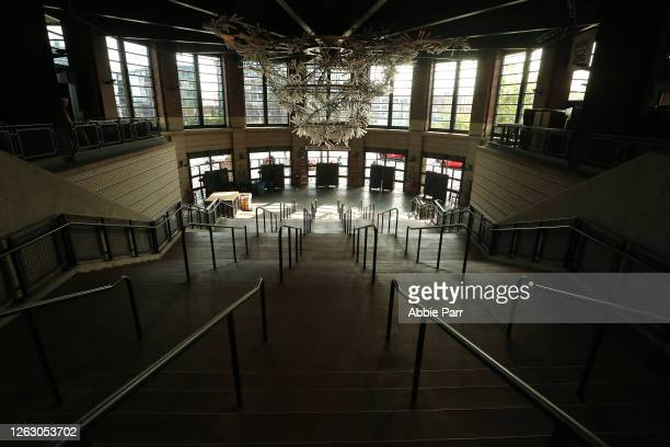 General view of the empty front gates to T-Mobile Park prior to an Opening Day game between the Seattle Mariners and Oakland Athletics at T-Mobile...