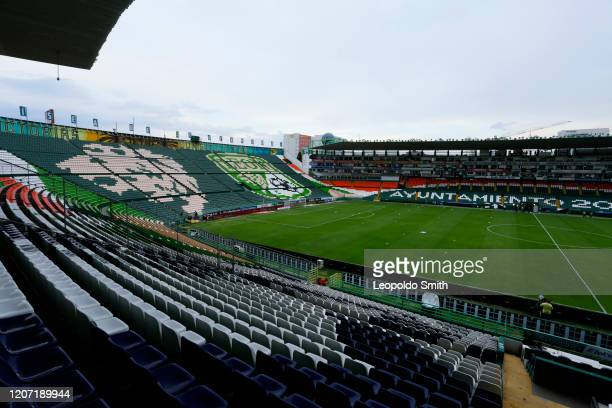 General view of the empty Leon Stadium prior to 10th round match between Leon and Pumas UNAM as part of the Torneo Clausura 2020 Liga MX at Leon...