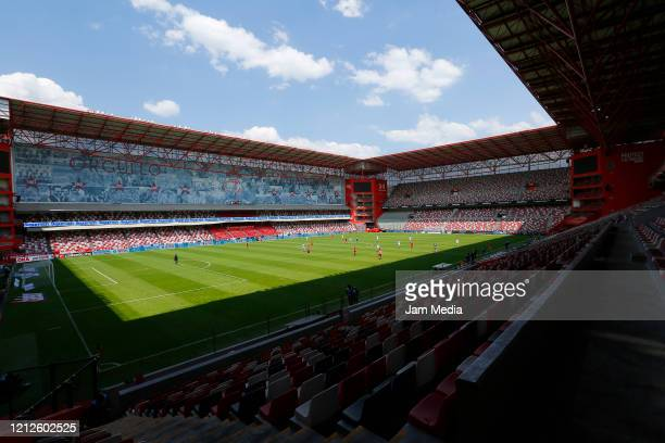 General view of the empty stadium during the 10th round match between Toluca and Atlas as part of the Torneo Clausura 2020 Liga MX at Nemesio Diez...