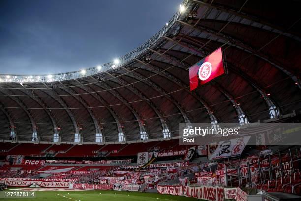 General view of the empty stadium prior to a group E match of Copa CONMEBOL Libertadores 2020 between Internacional and América de Cali at Beira-Rio...