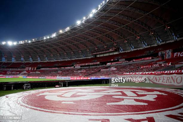 General view of the empty stadium prior to a group E match of Copa CONMEBOL Libertadores 2020 between Internacional and América de Cali at Beira-Rio...