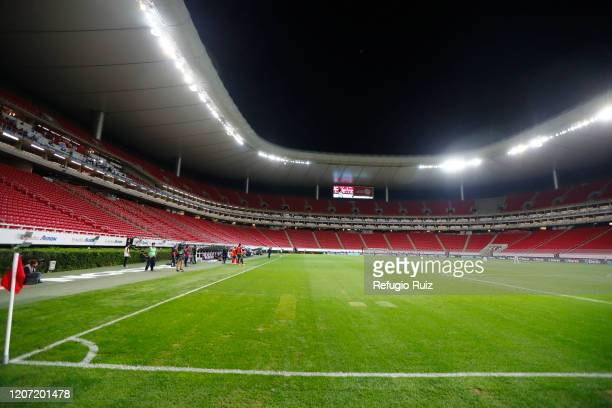 General view of the empty stadium prior to the 10th round match between Chivas v Monterrey as part of the Torneo Clausura 2020 Liga MX at Akron...