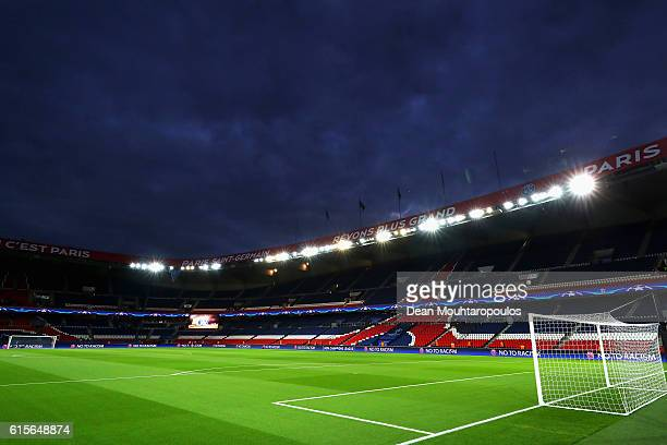 General view of the empty stadium prior to the Group A, UEFA Champions League match between Paris Saint-Germain Football Club and Fussball Club Basel...