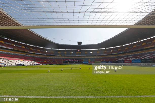 General view of the empty stands of Jalisco stadium prior the 9th round match between Atlas and Atletico San Luis as part of the Torneo Guard1anes...