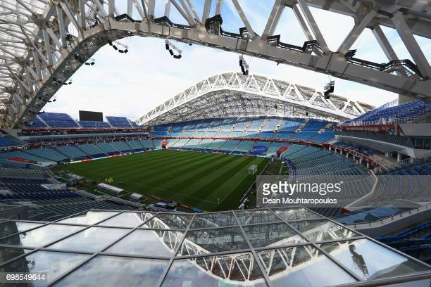 A general view of the empty venue prior to the Mexico training session at the FIFA Confederations Cup Russia 2017 held at Fisht Olympic Stadium on...