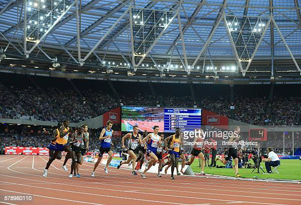 A general view of the Emsley Carr Mile underway during day one of the Muller Anniversary Games at The Stadium Queen Elizabeth Olympic Park on July 22...