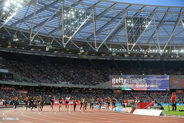 General view of the Emsley Carr Mile underway during day one of the Muller Anniversary Games at The Stadium - Queen Elizabeth Olympic Park on July...