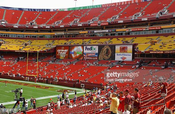 General view of the endzone seating area before the game between the Tampa Bay Buccaneers and the Washington Redskins on September 12 2004 at FedEx...