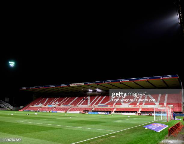 General view of The Energy Check County Ground, home of Swindon Town prior to the Sky Bet League One match between Swindon Town and Lincoln City at...