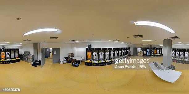 A general view of the England dressing room before the 2014 FIFA World Cup Brazil Group D match between England v Italy at Arena Amazonia on June 14...
