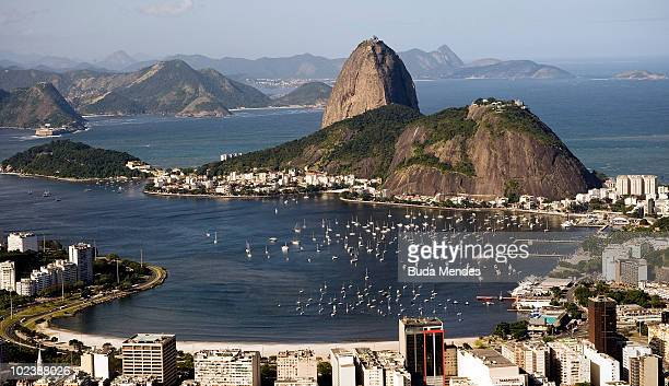 General view of the Enseada de Botafogo with the Sugar Loaf Mountain on June 13 2010 in the South Side of Rio de Janeiro Brazil