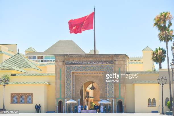 General view of the entrance gate to Dar al-Makhzen, the Royal Palace - primary and official residence of the King of Morocco in Rabat. On Wednesday,...