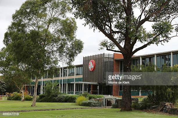 A general view of the entrance of the Holden manufacturing facility in Elizabeth on December on December 11 2013 in Adelaide Australia Holden have...