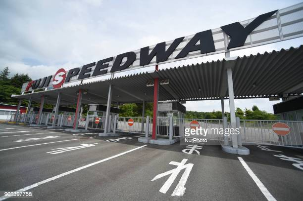 A general view of the entrance to Fuji International Speedway Road Circuit to Moun t Fuji the starting point of the sixth stage of Tour of Japan 2018...