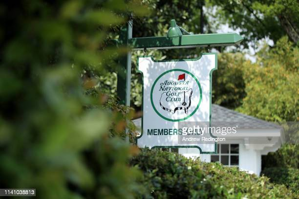 General view of the entrance to Magnolia Lane during the Drive, Chip and Putt Championship prior to the Masters at Augusta National Golf Club on...